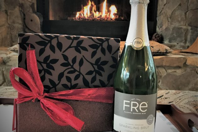 Standard celebration package with chocolate truffles and non-alcoholic sparkling wine