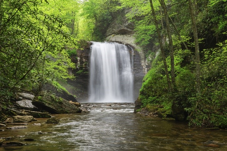 Looking glass falls waterfall