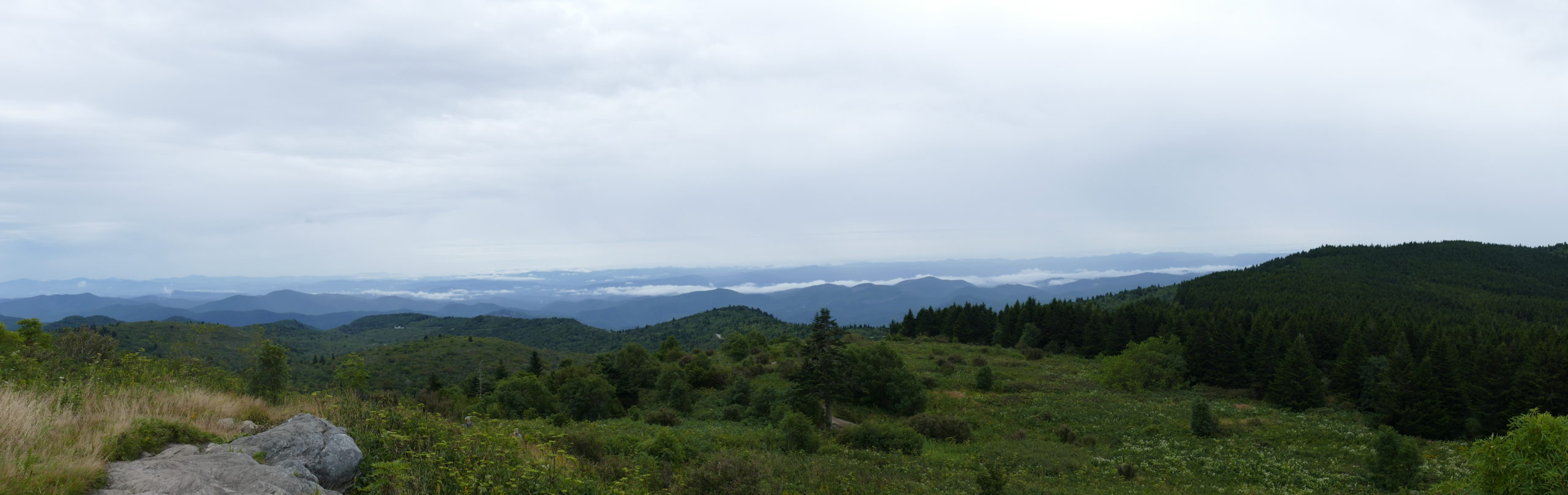 View of Blue Ridge Mountains In teh Distance from Black Balsm Viewpoint