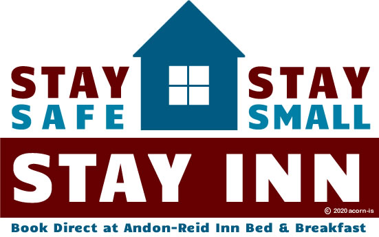 Sta-safe, stay small stay inn logo with house icon